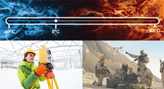 Industrial Temperature (-40°C to +85°C) Wide Temperature (-40°C to +105°C)