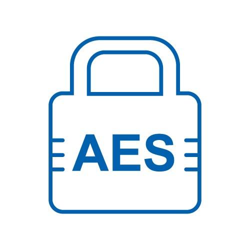 AES 128/256-bit encryption